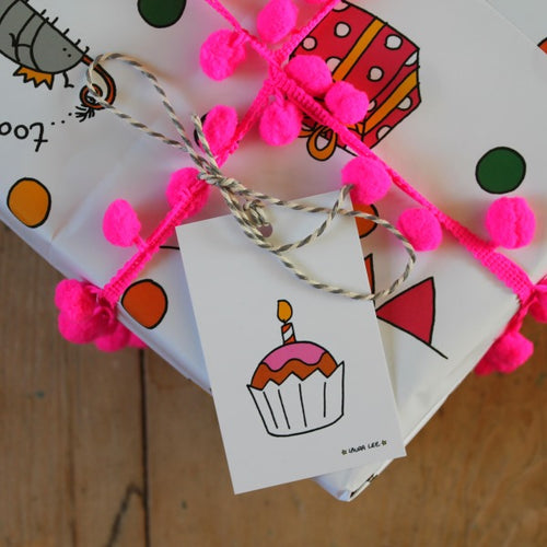 Cyril and Myrtle woodlice party gift wrap pack by Laura Lee Designs in Cornwall