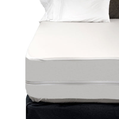 Dry Defender Heavy Duty Vinyl Split Boxspring Cover - California King Size (2 Hospital Twin XL Vinyls)