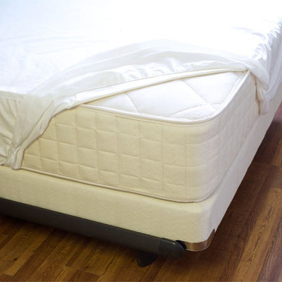 Mattress Pads-NaturePedic Organic Breathable Waterproof Mattress Protector - Fitted