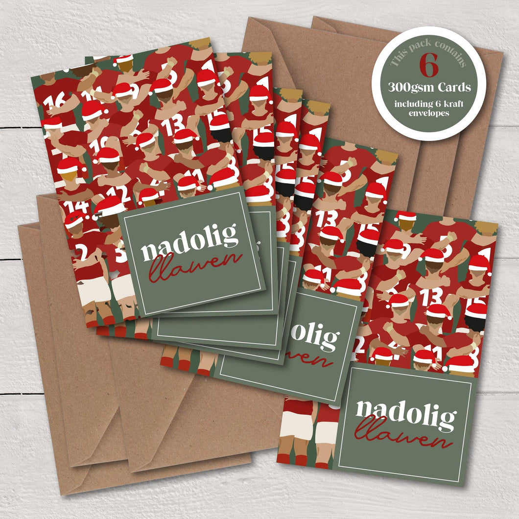 Nadolig Llawen Anthem / Merry Christmas - A6 Luxury Card Pack