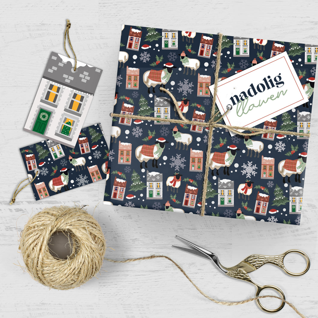 Welsh Winter - Wrapping Sheets & Tags