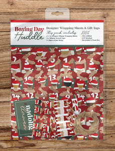 Boxing Day Huddle - Wrapping Sheets & Tags