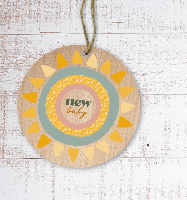 New baby Painted Wooden Gift Decoration