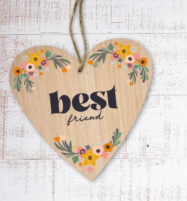 Best friend Painted Wooden Gift Decoration