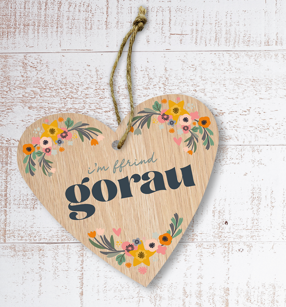 I'm ffrind gorau (Best friend) Painted Wooden Gift Decoration - Max Rocks
