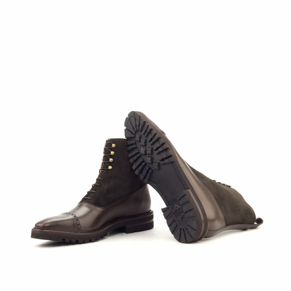 Balmoral - Polished Calf Dark Brown - Lux Suede Dark Brown-Albert Couture