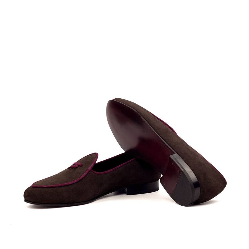 Slippers - Brown and Wine Suede-Albert Couture