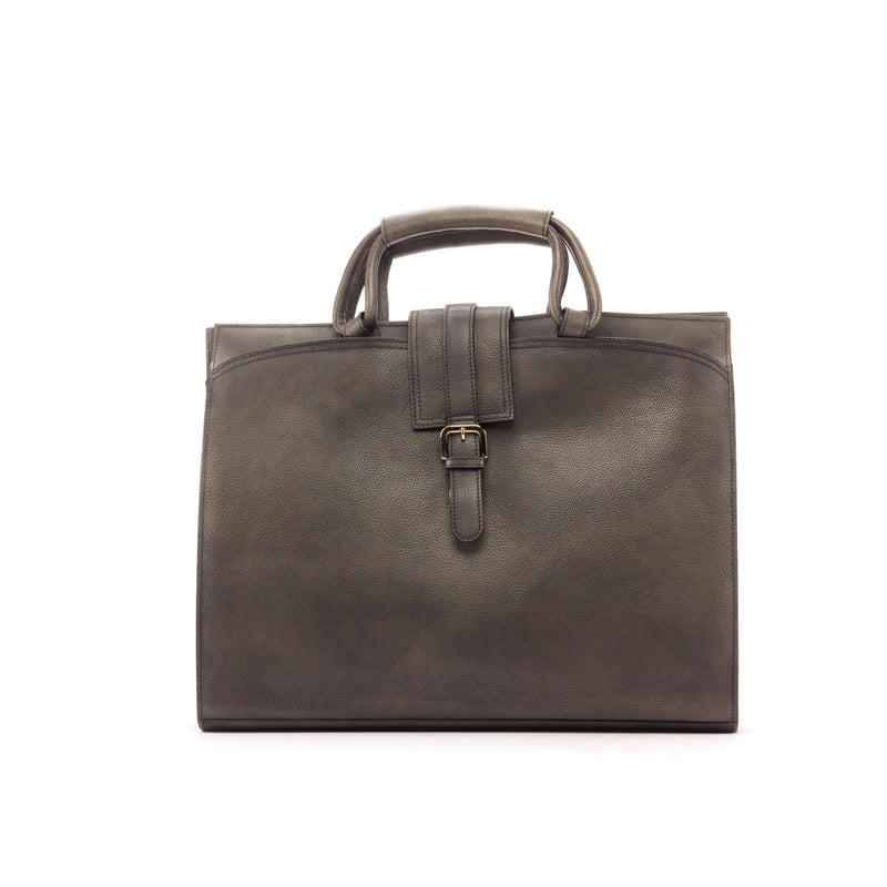 Briefcase - Painted Full Grain Grey