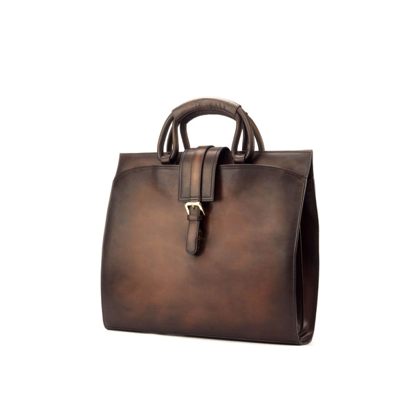 Briefcase - Painted Calf Med Brown - Painted Calf Dark Brown - Painted Calf Cognac