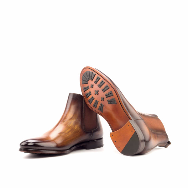 Chelsea Boots - Crust Patina Cognac and Elastic Cognac-Albert Couture