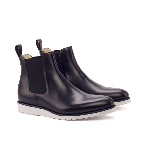 Chelsea Boots - Painted Calf Black-Albert Couture