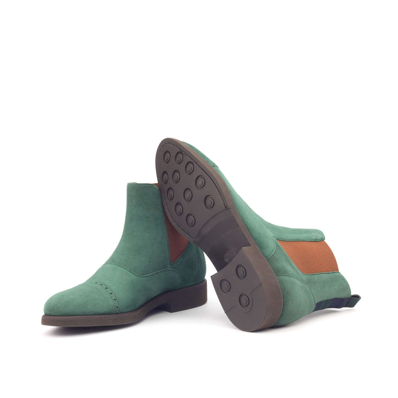 Chelsea Multi Boots - Kid Suede Forest Wool-Albert Couture