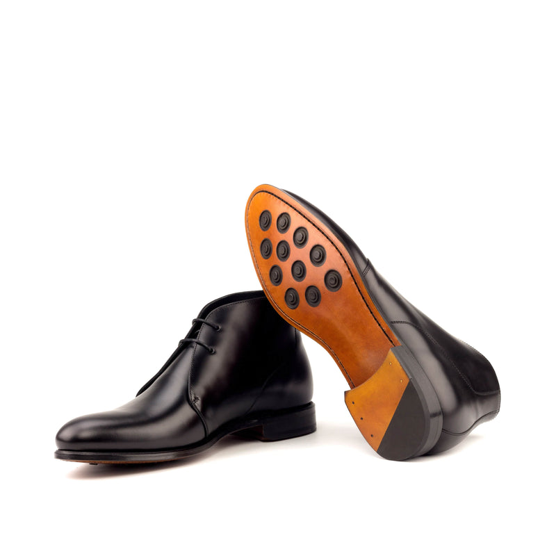 Chukka - Polished Calf Black-Albert Couture