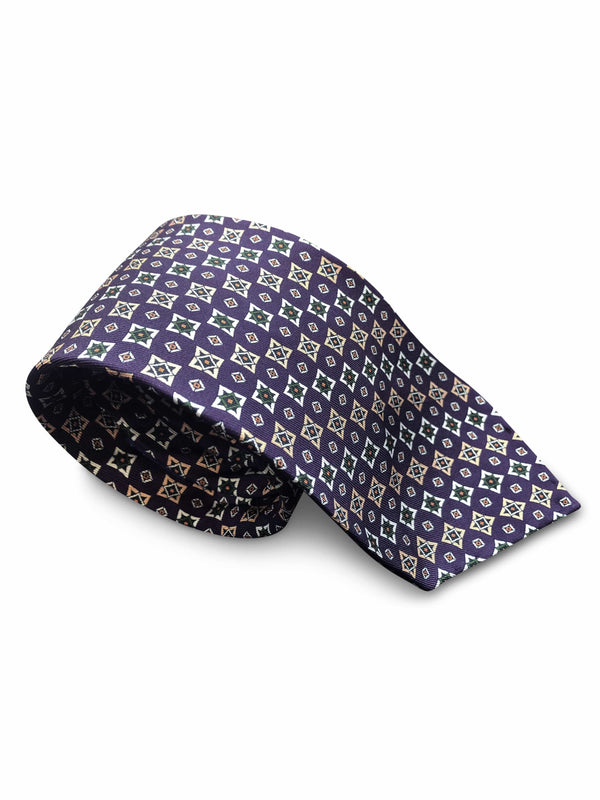Tie - Purple Gold Stars