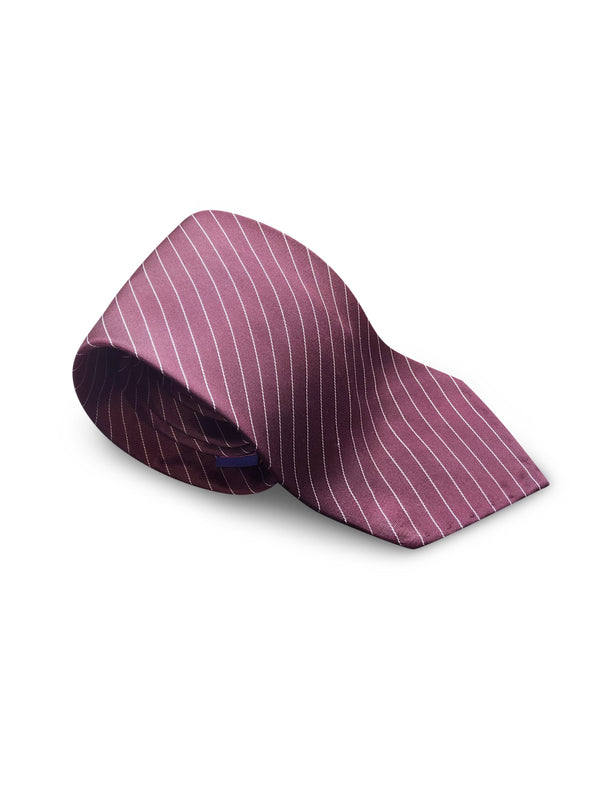 Tie - Burgundy Stripes Classic
