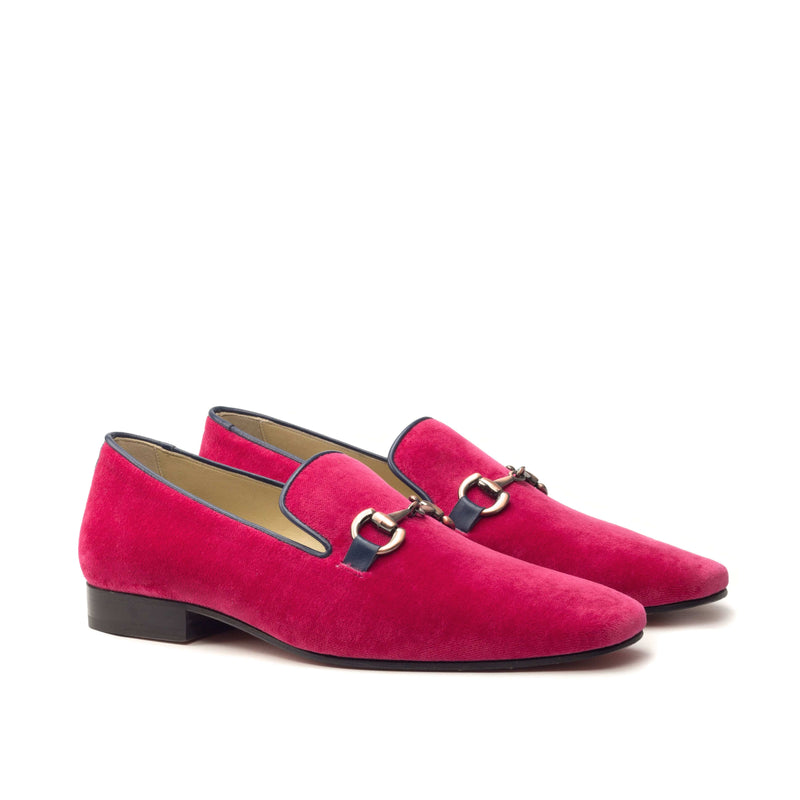 Slippers - Fuschia velvet Ocean Nappa-Albert Couture
