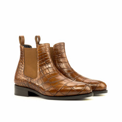 Chelsea Boots - Alligator Brown Skin