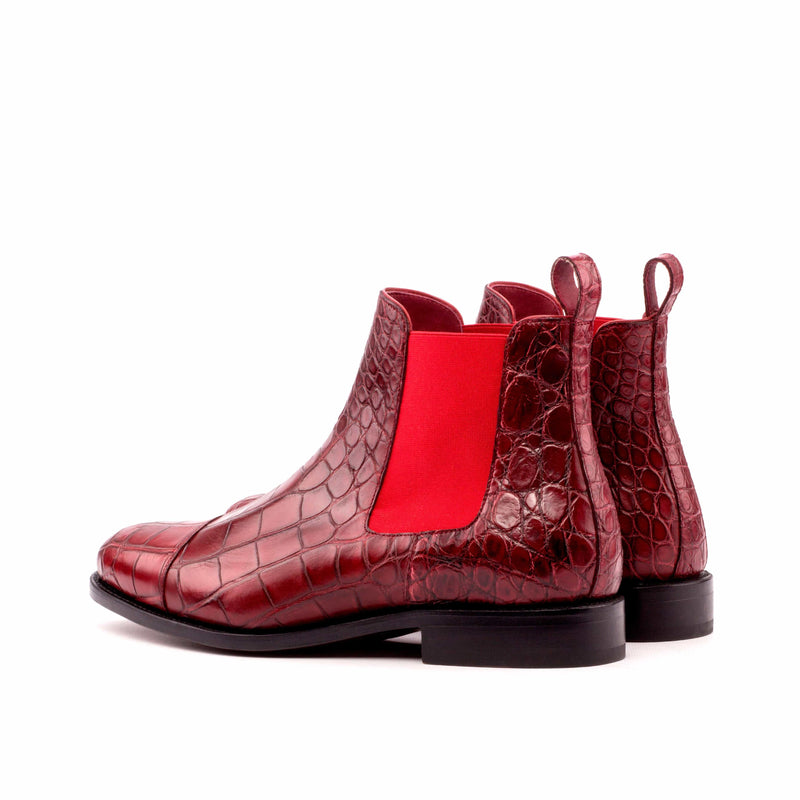 Chelsea Boots -Alligator Red Skin