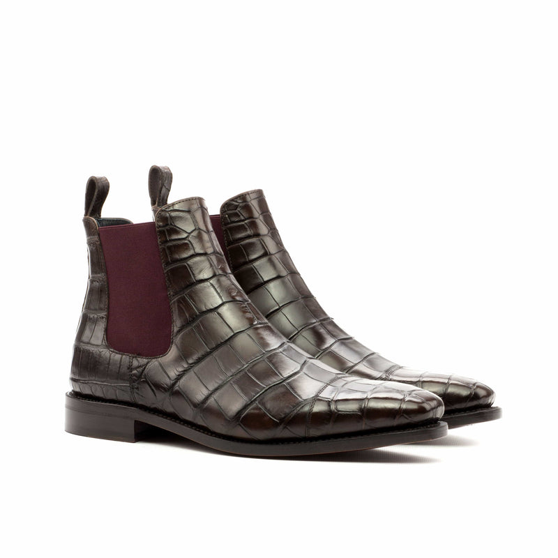 Chelsea Boots - Alligator Coffee Brown Skin
