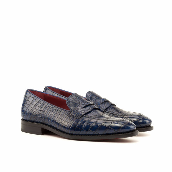 Milano Loafer - Alligator Skin Navy