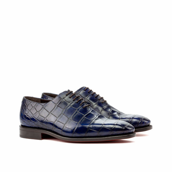 Whole Cut - Alligator Navy Skin Dress Shoes