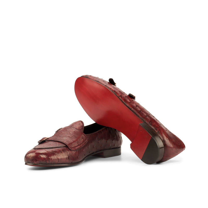 Panama Slippers - Ostrich Red Skin