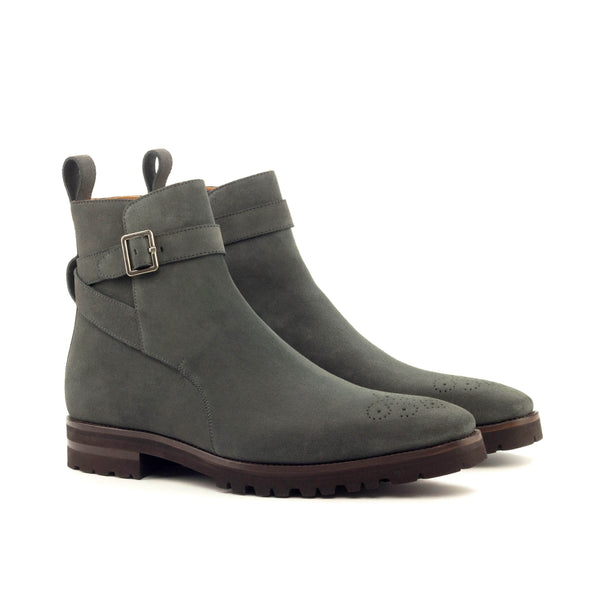 Jodhpur Boots - Lux Suede Grey Commando Sole-Albert Couture