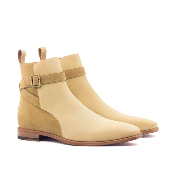 Jodhpur Boots - Lux Suede Sand and Camel-Albert Couture
