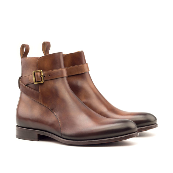 Jodhpur Boots - Light Burnishing Painted Calf Brown-Albert Couture