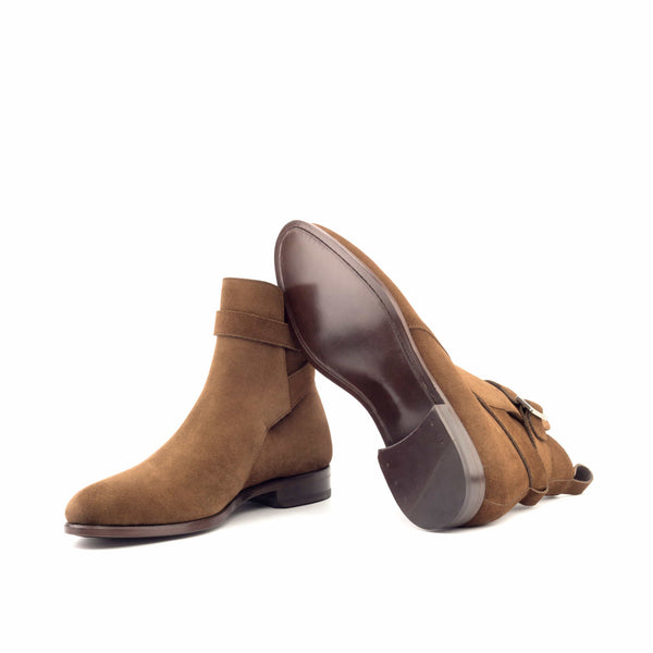 Jodhpur Boots - Lux Suede Med Brown Niquel Metal-Albert Couture