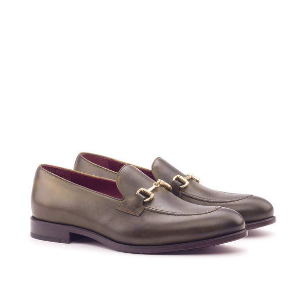 Loafer - Painted Calf Olive-Albert Couture