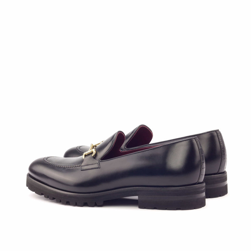 Loafer - Polished Calf Black Croco Black-Albert Couture