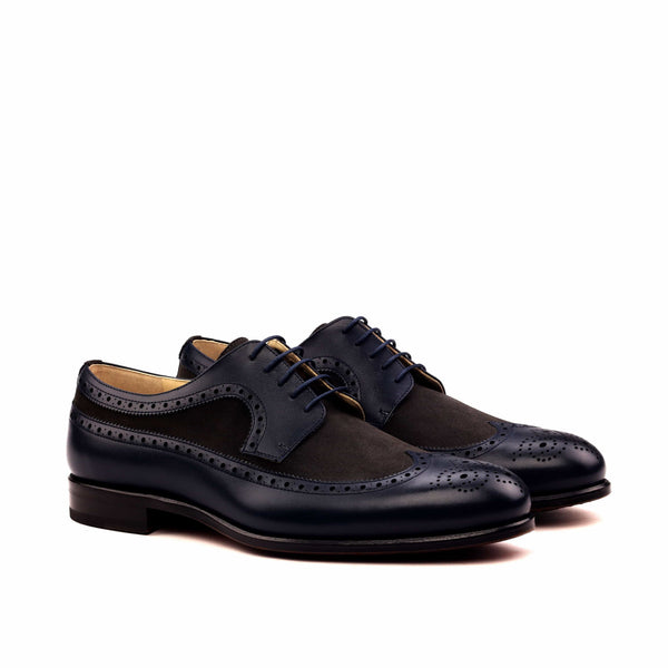 Longwing Butcher - Box Calf Navy Lux Suede Grey-Albert Couture