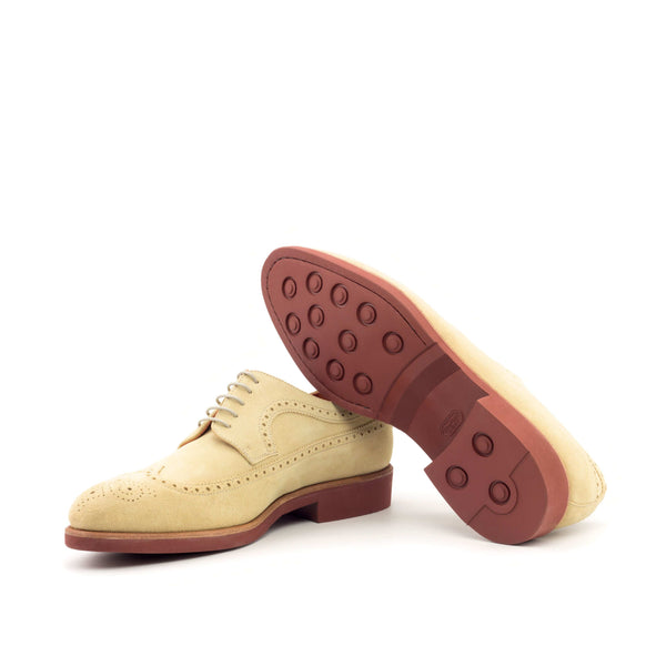 Longwing Butcher - Lux Suede Sand Taupe Laces-Albert Couture