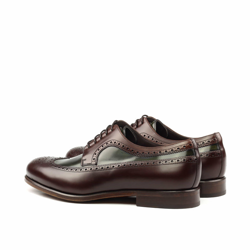 Longwing Butcher - Oxblood and Green Polished Calf-Albert Couture