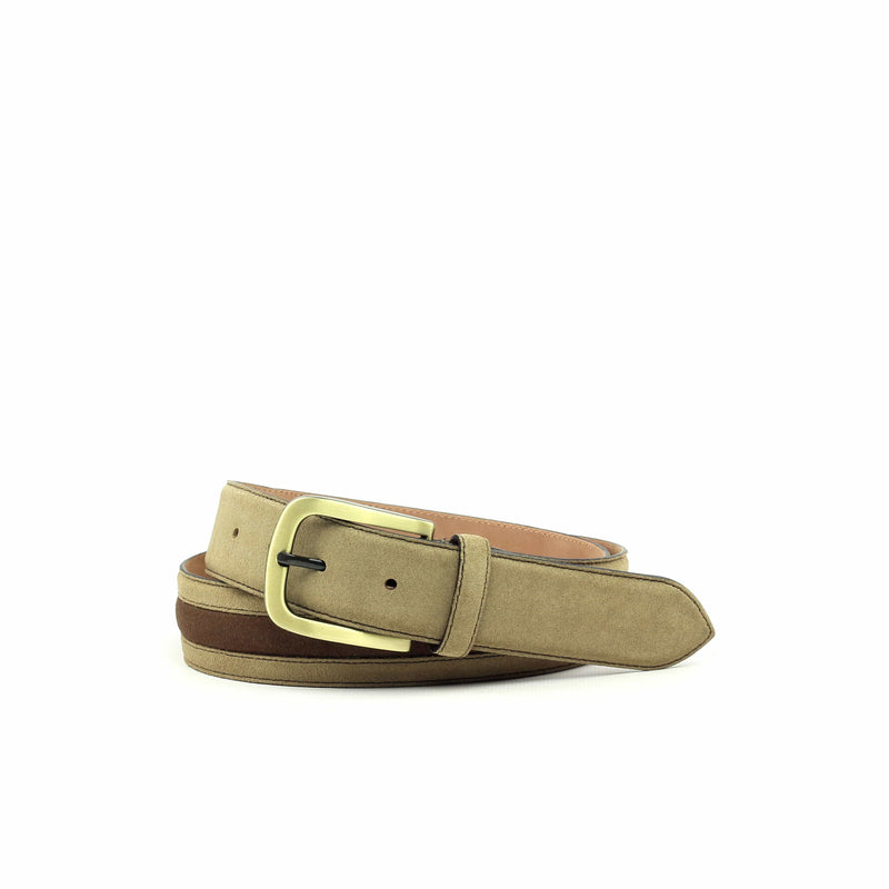 Belt - Lux Suede Med Brown Lux Suede Sand-Albert Couture