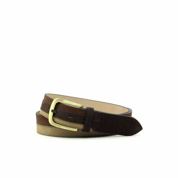 Belt - Lux Suede Sand Lux Med Brown-Albert Couture
