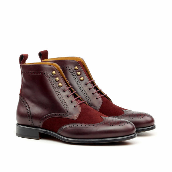 Military Boots - Puma Burgundy-Albert Couture