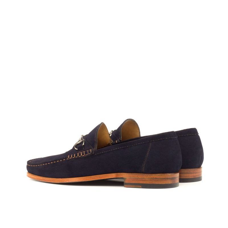 Moccasin - Navy Suede