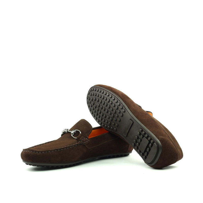 Moccasin - Brown Calf Suede-Albert Couture