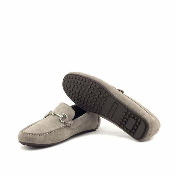 Moccasin - Grey Sport Suede-Albert Couture