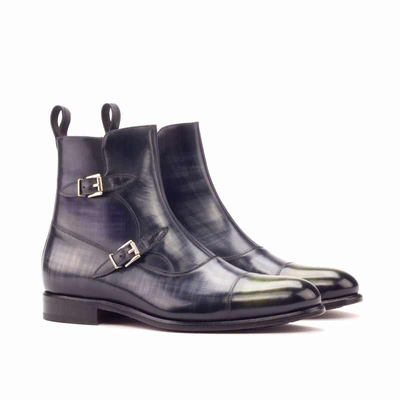 Octavian Boots - Patina Purple Patina Grey and Patina Khaki-Albert Couture