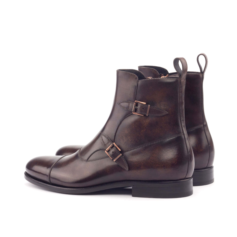 Octavian Boots - Crust Patina Brown Marble-Albert Couture