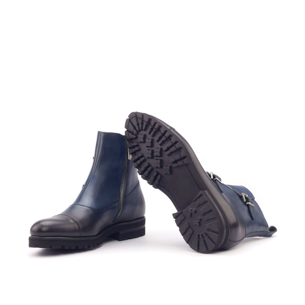 Octavian Boots - Painted Calf Navy-Albert Couture