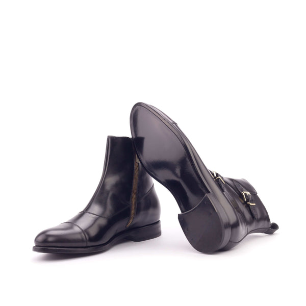Octavian Boots - Polished Calf Black Faux Croco Black-Albert Couture