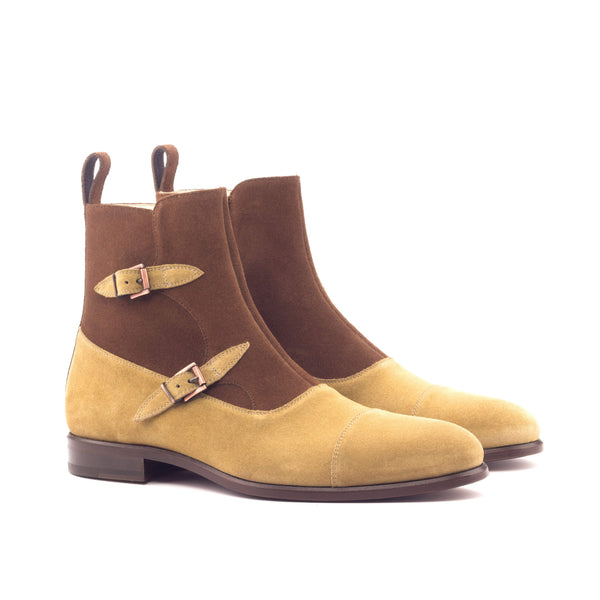 Octavian Boots - Lux Suede Med Brown and Camel-Albert Couture