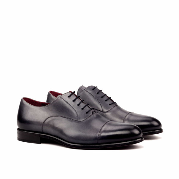 Oxford - Light Burnishing painted Calf Grey-Albert Couture