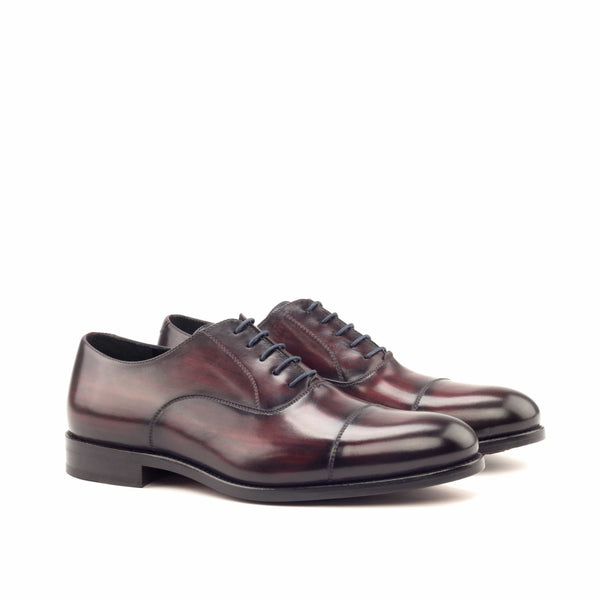 Oxford - Patina Heavy Burgundy and Denim-Albert Couture