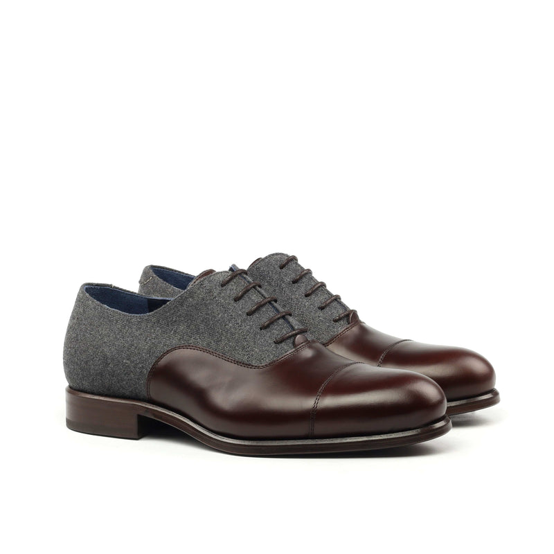 Oxford - Polished Calf and Flannel-Albert Couture