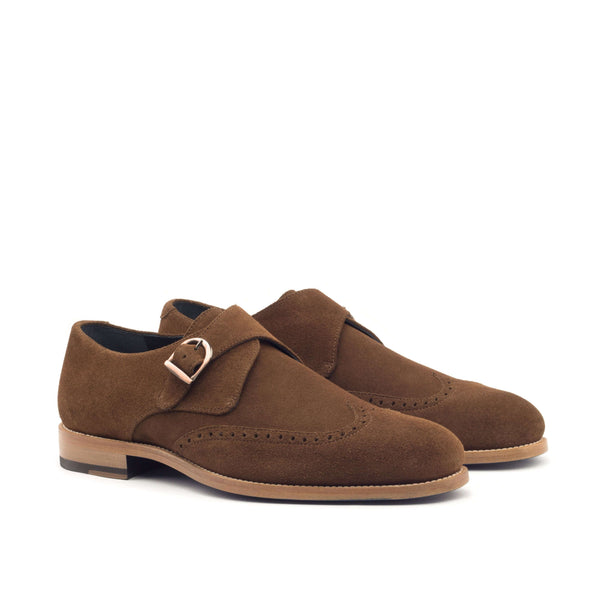 Single Monk - Lux Suede Med Brown-Albert Couture
